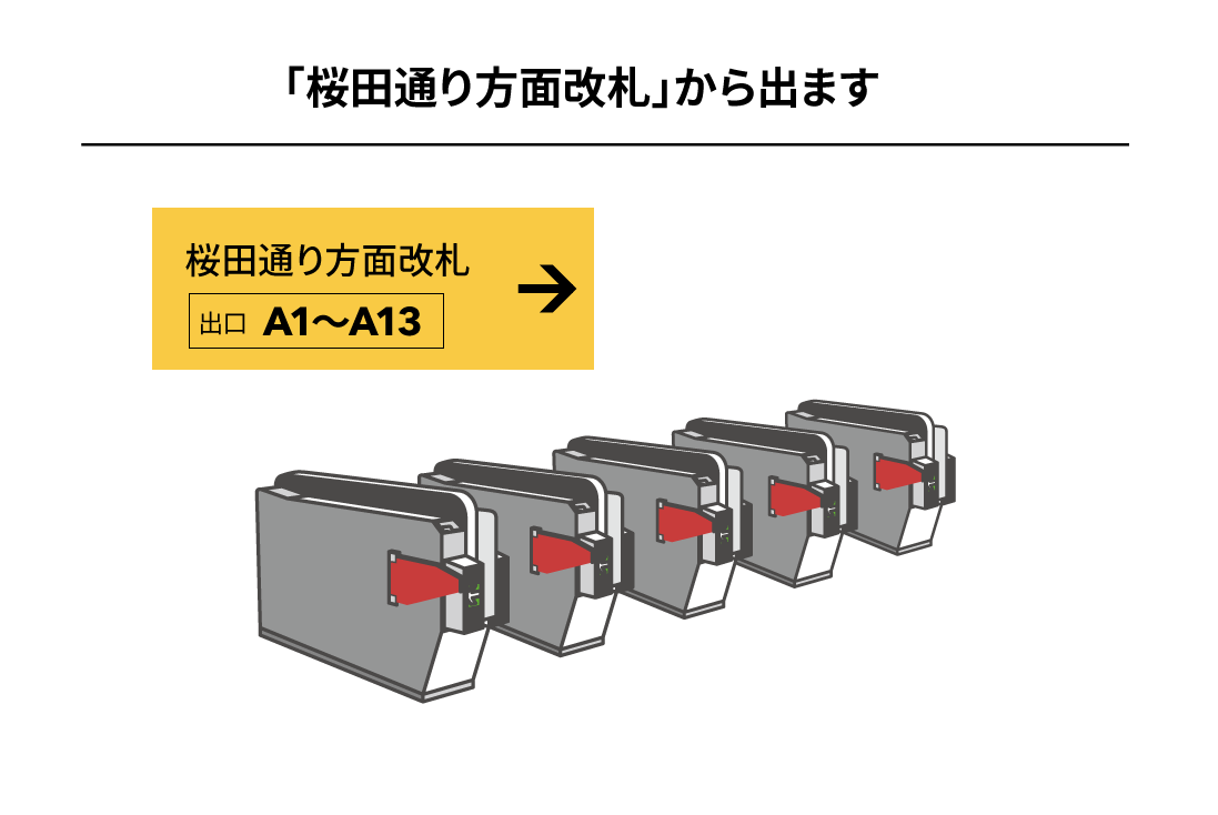 千代田線霞ヶ関駅からのアクセス1