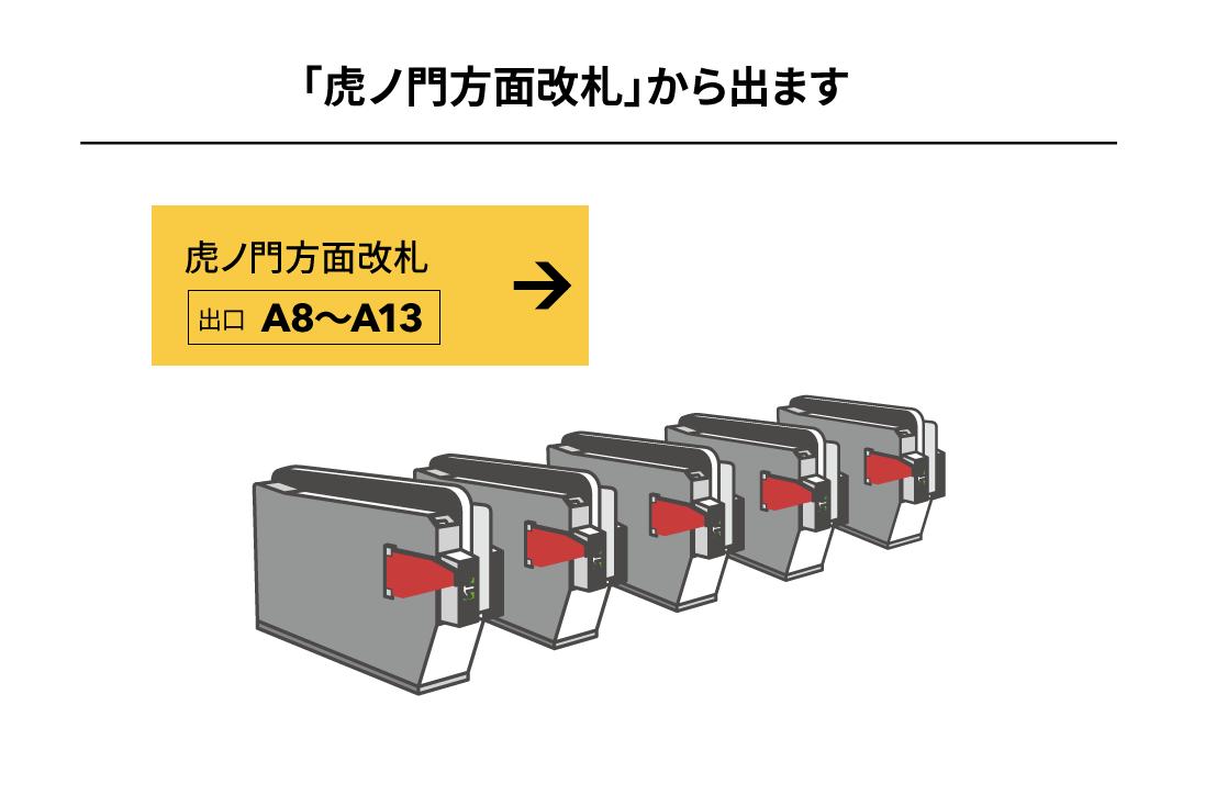 日比谷線霞ヶ関駅からのアクセス1